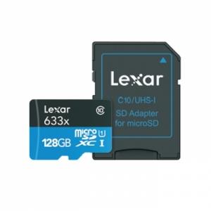 렉사 메모리카드 Micro SDXC⑩ 128GB, 633x +SD아답터, 개