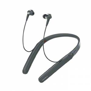 소니 블루투스 이어폰 WI-1000X/BM E 블랙, 노이즈 캔슬링, 개