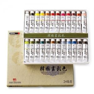 신한 한국화채색물감 24색B 20ml, 세트