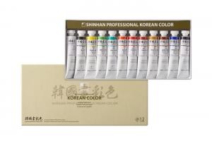 신한 한국화채색물감 12색 20ml, 세트