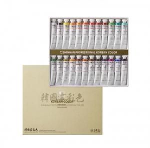신한 한국화채색물감 24색A 20ml, 세트