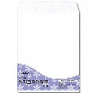 우진 레자크 각대봉투 A4 흰색 8매, 셋