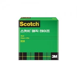 3M 스카치 매직테이프 3인치 코어용 리필 810R, 24mm*65m, 개