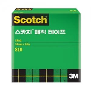 3M 스카치 매직테이프 3인치 코어용 리필 810R, 12mm*65m, 개