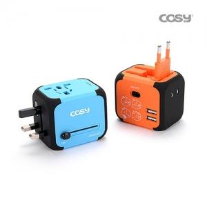 코시 여행용아답터 솔리드 USB 2포트, TA3068U, 개