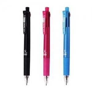제브라 스라리 멀티(핑크) 4색 에멀젼볼펜 0.7+샤프0.5 흑+청+적+녹, 개
