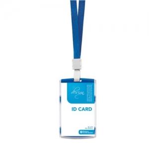 문화 ID 카드케이스(스냅)세로형 A724-72 청색, 개