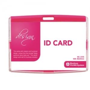 문화 ID 카드케이스(스냅)가로형 A725-76 핑크, 개
